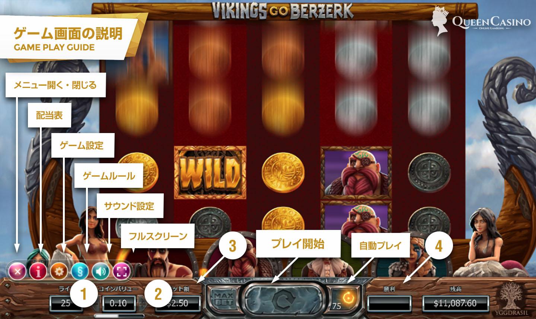 Vikings Go Berzerk – バイキング・ゴー・バーサーク – ゲーム画面説明