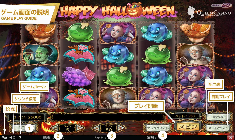 Happy Halloween – ハッピーハロウィーン – ゲーム画面説明