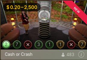 新しいライブゲームショーの「Cash and Crash」のご紹介!!!